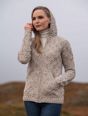 Aran Crafts Hooded Skellig Cardigan