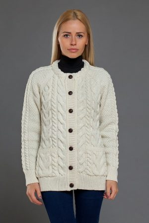 Aran Cable Knit Lumber Cardigan