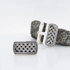 Sterling Silver Ingot Cuff Links S6523