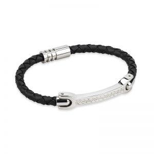 Solvar Mens Celtic Leather Bracelet