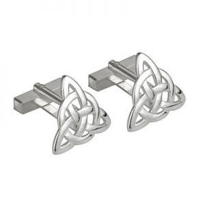 Large Silver Trinity Knot Cufflinks