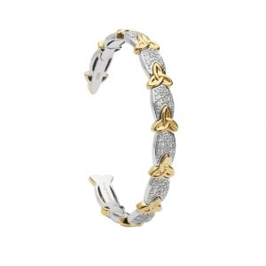 Shanore Sterling Silver Heavy Weight Trinity Knot Bangle