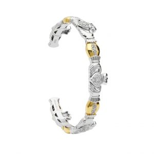 Shanore Sterling Silver Heavy Weight Claddagh Bangle