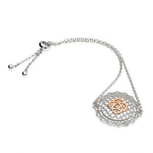 Irish Lace Rose Gold Celtic Knot Silver Bracelet