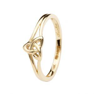 10K Gold Trinity Knot Ring