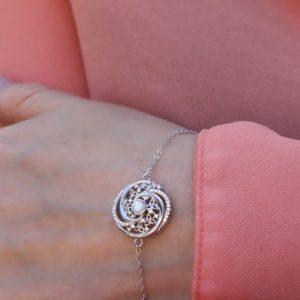 Mother of Pearl Arian Celtic Swirl Trinity Bracelet