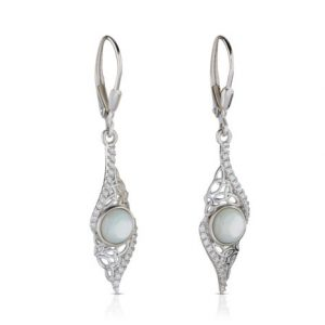 Mother of Pearl Arian Twisted Trinity Earrings