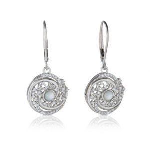 Mother of Pearl Arian Trinity Swirl Earrings