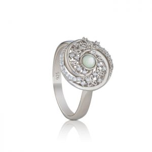 Mother of Pearl Arian Trinity Swirls Ring