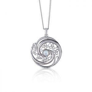 Mother of Pearl Arian Trinity Swirl Pendant