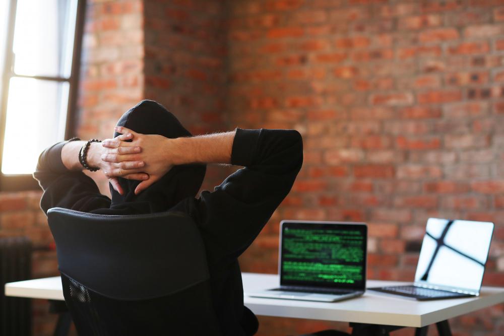 Hacker Man Laptop