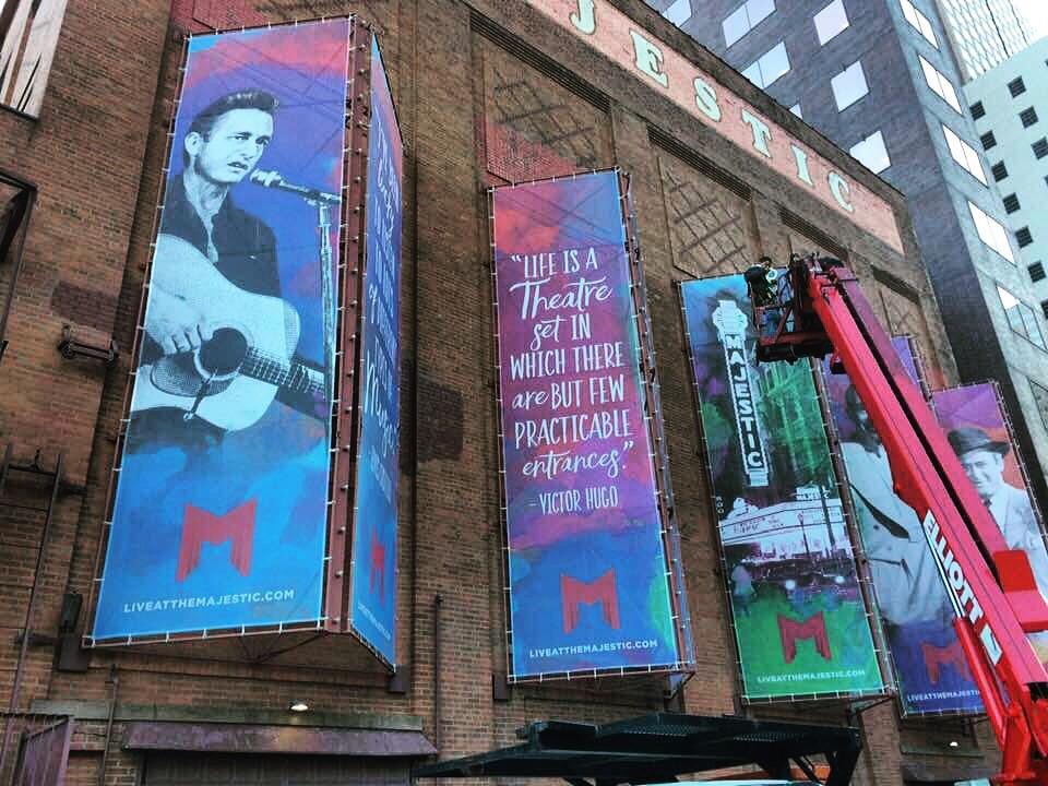 New Banners Celebrate Majestic Theatre's Legacy in Dallas