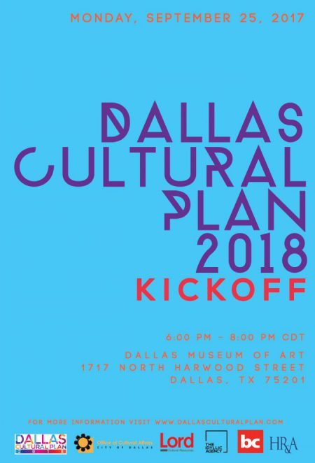 Dallas cultural Plan kick off - DMA