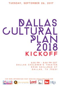 Events Archive » Page 5 of 5 » Dallas Cultural Plan on