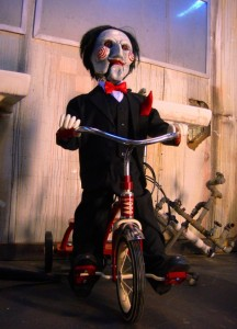 Saw Puppet at Circus Circus' Frightdome (Coursey of PR Plus)