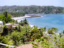 View of the beach in Sayulita, Mexico