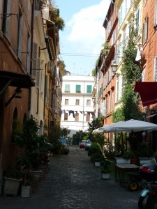 Typical street in Medieval Rome