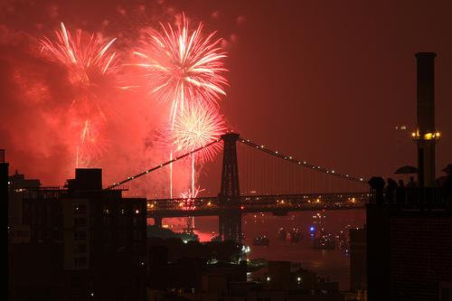 Fireworks over Brooklyn, New York. Credit: Howard_N2GOT.