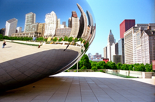 The Bean at Chicago's Millenium Park. Credit: David Paul Ohmer.