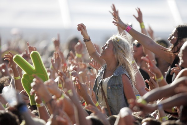No feeling quite like a good ole fashioned crowd surf. Credit: Evarinaldiphotography.
