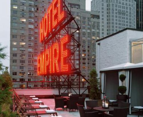 Rooftop bar at Hotel Empire, New York CIty