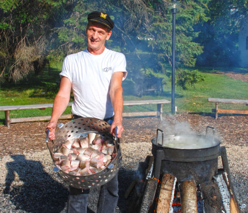 Fish Boil at the Old Post Office Restaurant in Door County, WI