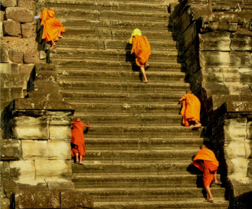 Angkor Wat's scary stairs