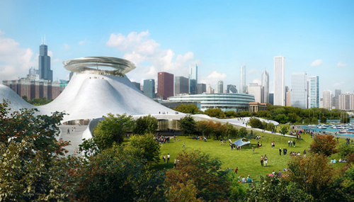 Plan for the new Lucas Museum in Chicago