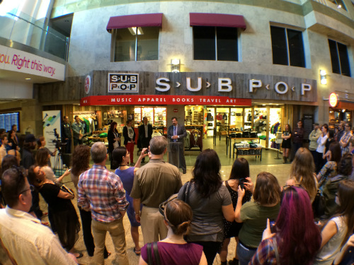 The Sub Pop store at Seattle's SEA-TAC Airport