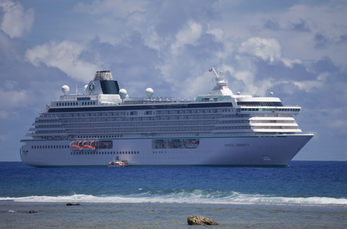 The cruise ship Crystal Serenity