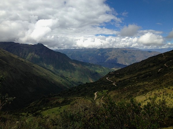 A view of the Andes on Day 1 of the Salkantay Trek. Courtesy of Ally Marotti.