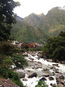 The first views of Aguas Calientes. Courtesy of Ally Marotti.