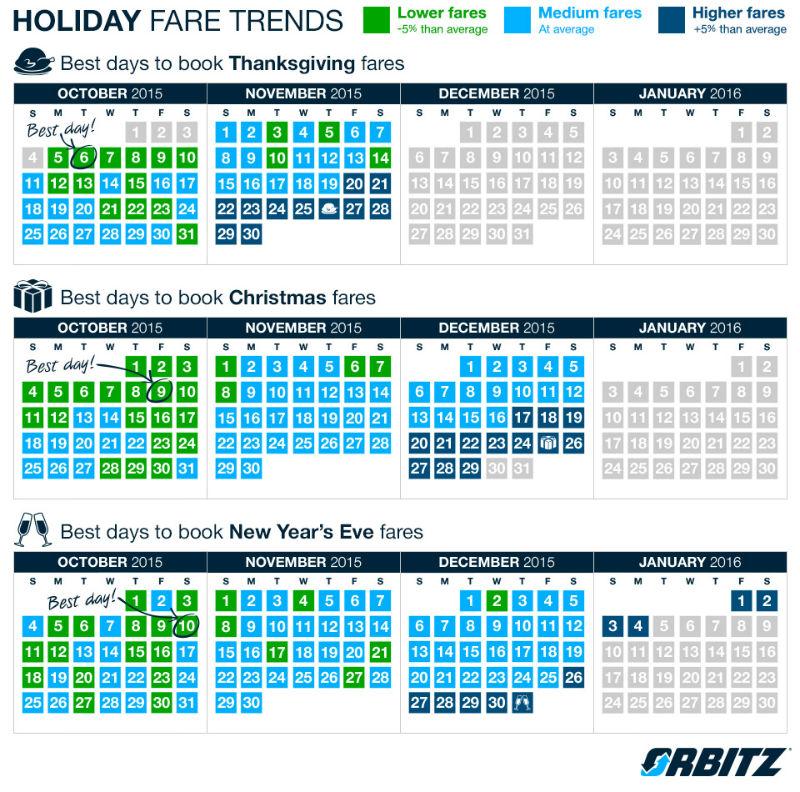 Orbitz Holiday Calendar 2015
