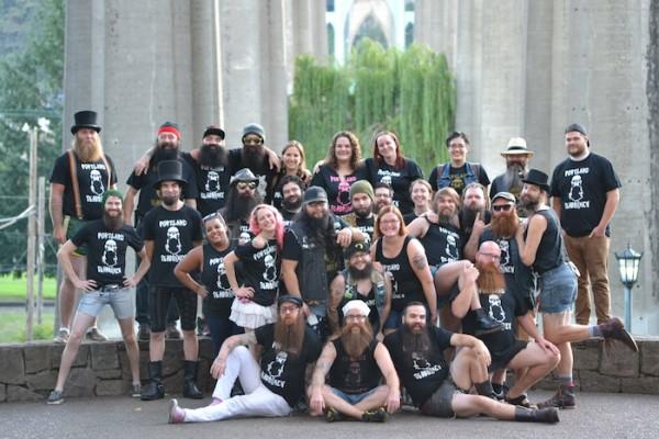 Group photo of the Portland Beardsmen