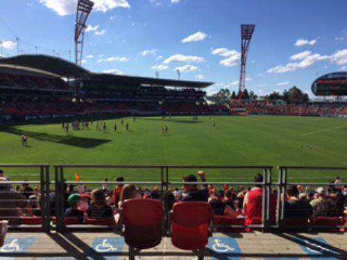 Aussie Rules football.500
