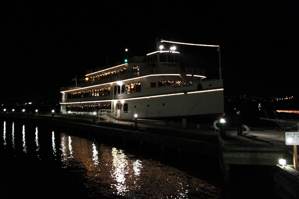 Hop aboard the Argosy for a dinner cruise