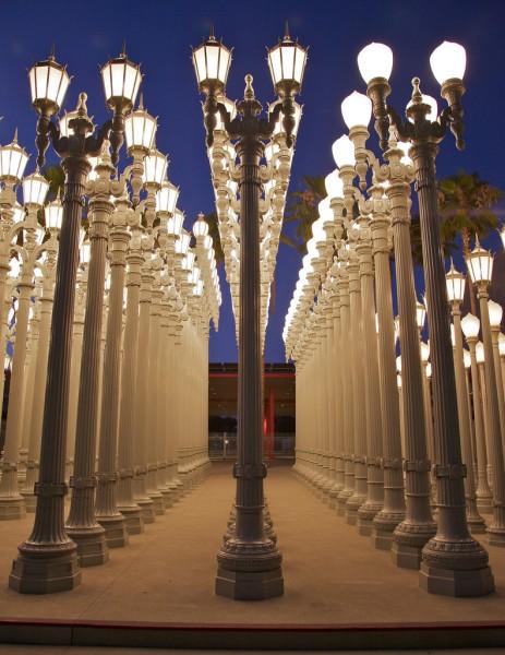 Urban Light Installation at the LA County Museum of Art