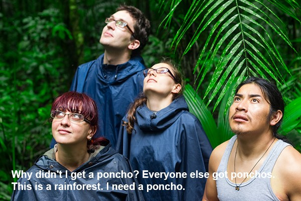 Travel stock photo-poncho