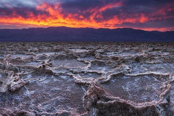 Death Valley, California, sunset above
