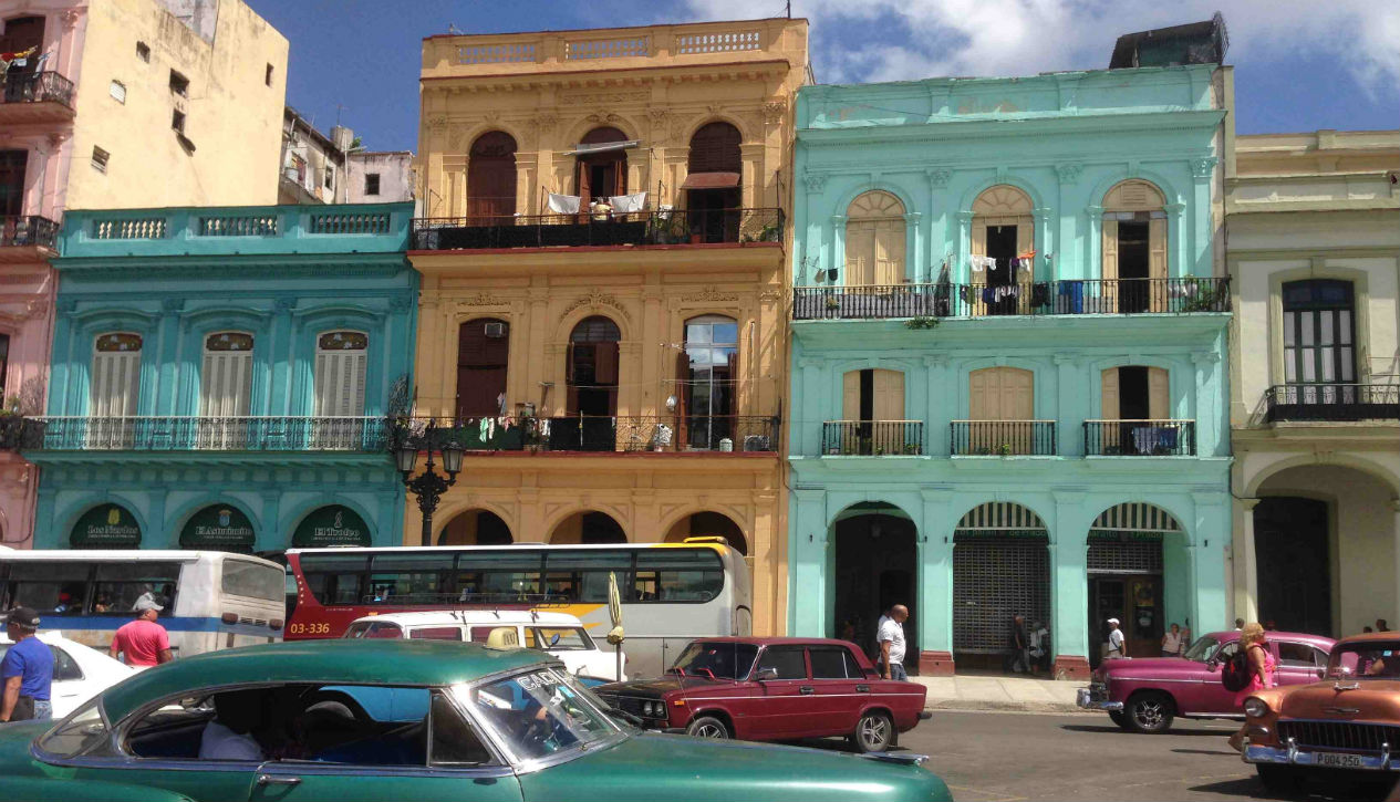 Vintage cars on the Prado in Havana, Cuba