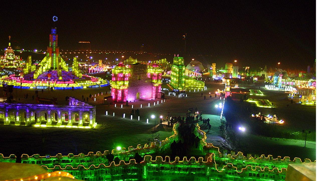Harbin Ice Festival   Photo: LiYan at zh.wikipedia