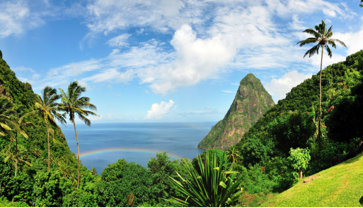 Valley in Saint Lucia