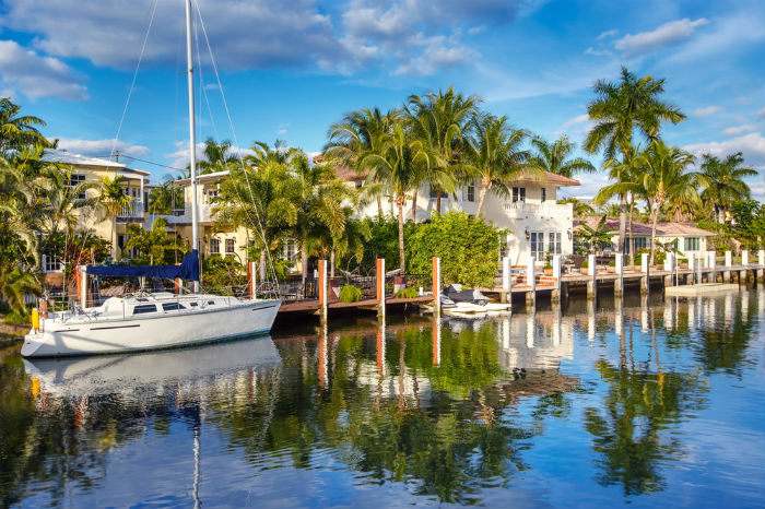 Fort Lauderdale canals, water, Florida