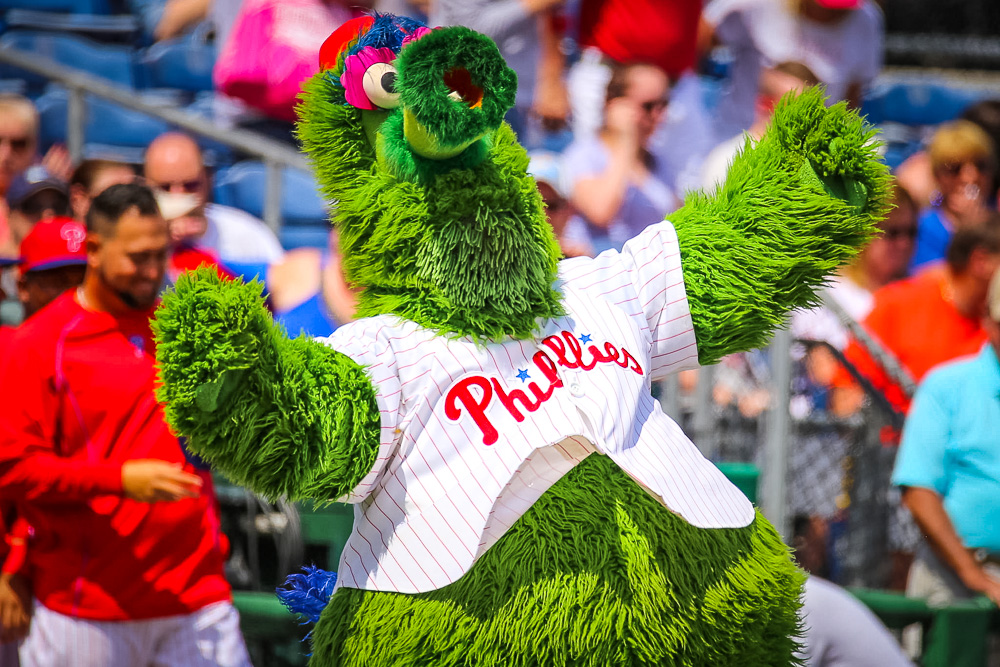 Orbitz-Baseball opening day-quirkiest baseball mascots of all time-phillie phanatic