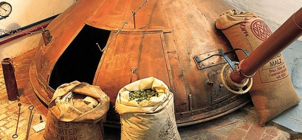 Copper Brewing Kettle at the Bamberg Brewery Museum