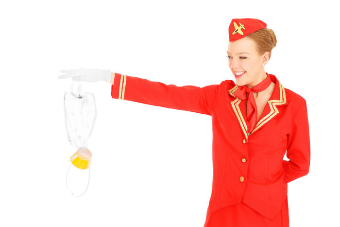 oxygen mask, flight attendant, airline, airplane, travel