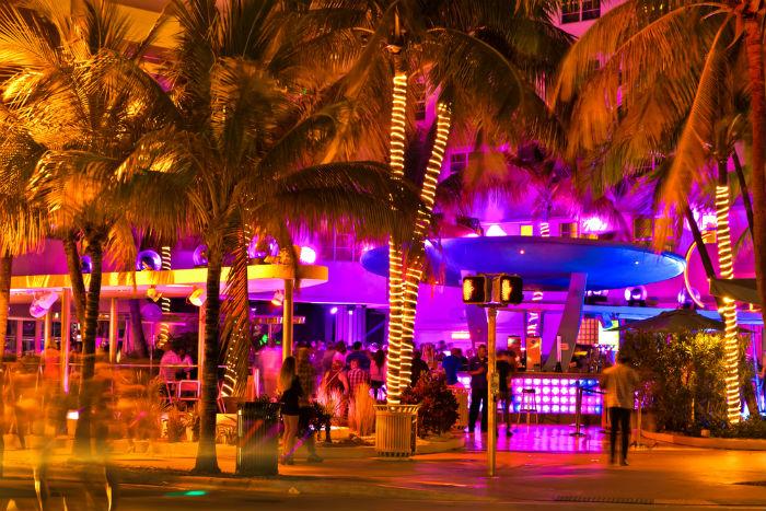 South Beach, Miami, Florida, nightlife, sun