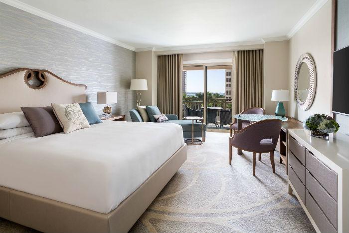 Ritz-Carlton, hotel, guest room, travel, bedding