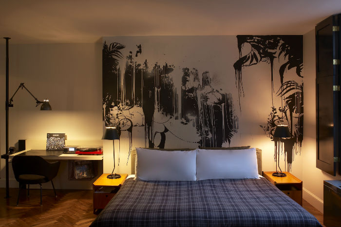 Ace Hotel, New York, bed, blankets, travel, trip, lifestyle
