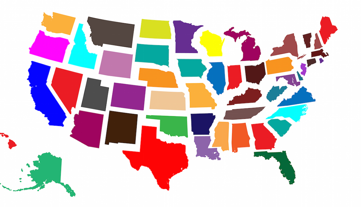Most popular international destinations by state
